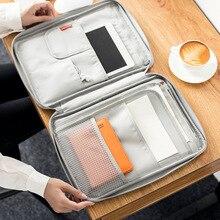 Multi funcional a4 documento sacos de arquivamento produtos portátil impermeável oxford pano saco de armazenamento para notebooks canetas computador
