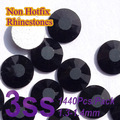 Free Shipping Nail Art  Rhinestone Jet Black SS3(1.3-1.5MM) 1440pcs/pack Non Hotfix Flatback Crystal Stones