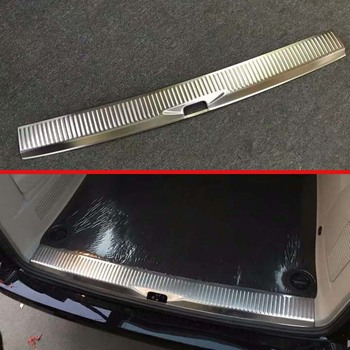 For VW Volkswagen Transporter (T6) Caravelle 2017 2018 Stainless Steel Rear Trunk Scuff Plate Door Sill Cover Molding Garnish
