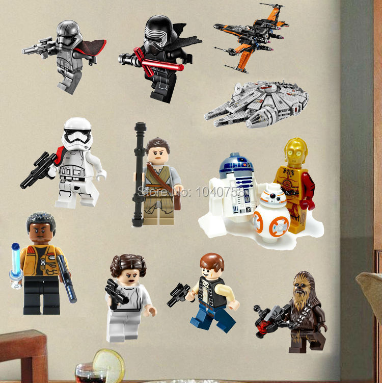Star Wars Lego Movie Posters Wall Stickers Decals Art for Baby Nursery Kid Room Home Decoration WallPaper Cartoon & Star Wars Lego Movie Posters Wall Stickers Decals Art for Baby ...