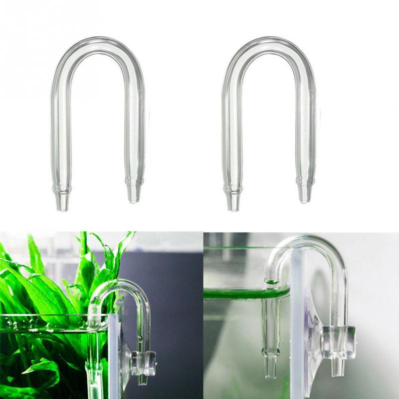 Aquarium U Shaped Glass Tube Bend For Aquarium CO2 Diffuser