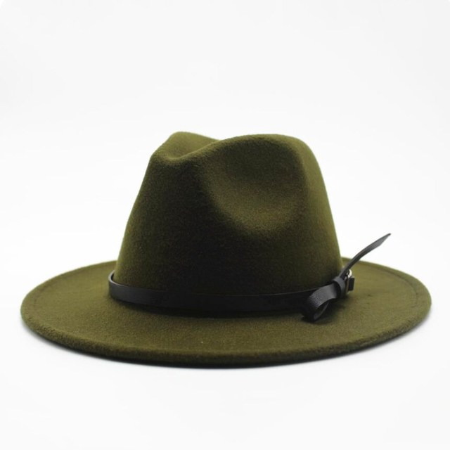 Wool Jazz Hat - Large Brim Fedora 5