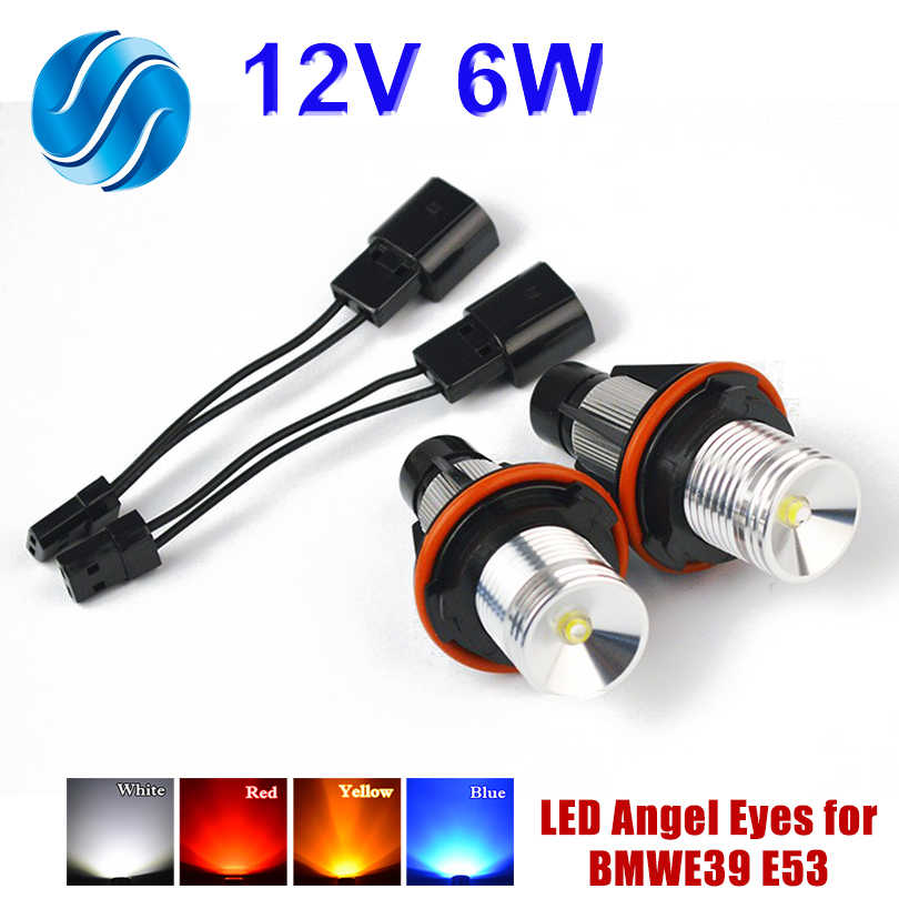 flytop 1 Set 2*3W 6W Bridgelux LED Chips LED Marker Angel Eyes White Blue Red Yellow for BMW E39 E53 E60 E61 E63 E64 E65 E66
