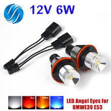Flytop 1 Set 2*3W 6W Bridgelux LED-Chips LED Marker Angel Eyes Weiß Blau Rot Gelb für BMW E39 E53 E60 E61 E63 E64 E65 E66(China)