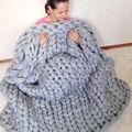 Warm Wool Yarn Handmade Chunky Knit Blanket Hoom Children Sofa Bed Blanket