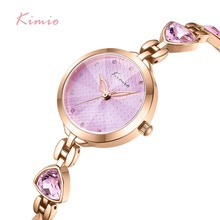 Kimio Brand Women Bracelet Watches Luxury Ladies Crystal Quartz Watch Irregular Gem Dress Waterproof Wristwatch Relogio Feminino