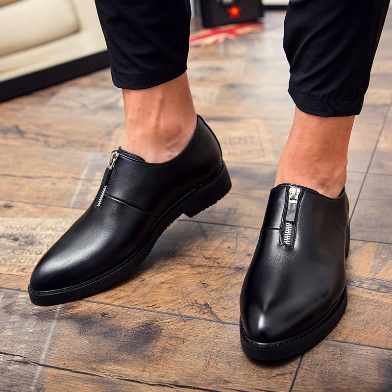 GodErlang Men Shoes Leather Men Casual Shoes Designer Black Red Loafers Moccasins 2018 Autumn New Male Brand Luxury Footwear 38 44 luxury brand designer sneaker men loafers moccasins genuine leather casual shoes male footwear