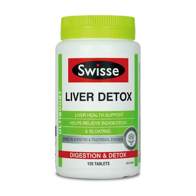 Australia Swisse Liver Detox 120 tablets Quality formula Support Liver Function Indigestion Bloating Cramping Relief Antioxidant