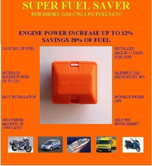 2 PIECES/ LOT FREE SHIPPING FUEL SAVING DEVICE FOR CARS, MOTORCYCLES, BOATS, TRUCKS