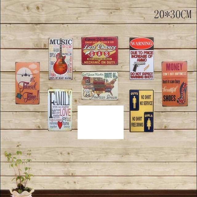 Family Love Tin Signs Metal Painting Wall Art Carft Music Guitar Map ...