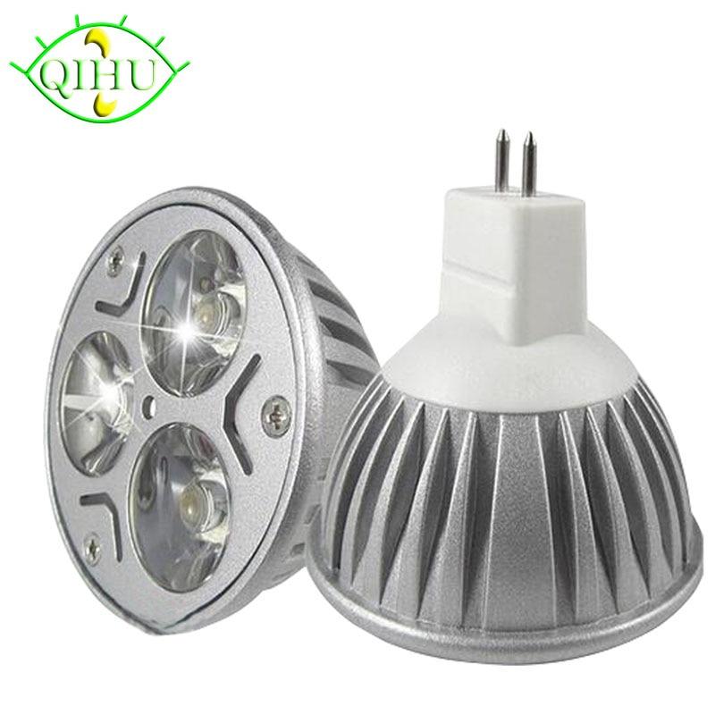 MR16 Lampada Led Bulbs  GU5.3  3w  Dimmable 110V 220V  Spotlights E27 E14 Gu10  DC12V Lamps