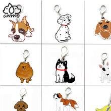 5 TEILE/LOS Pet Hunde Anhänger Charms Pudel Bulldog Husky Chihuahua Tasche Charme für Schmuck Machen Liefert für Schmuck