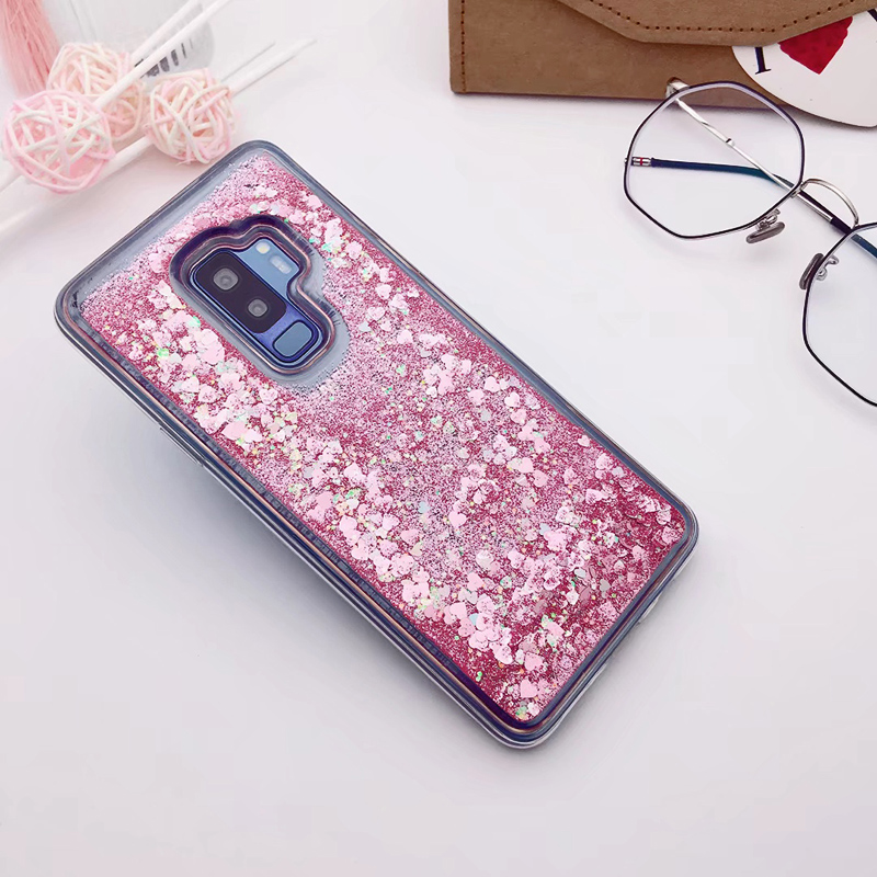 for Samsung Galaxy S9 case Back cover Bling Glitter Dynamic Quicksand Liquid Case for samsung S9 plus cover Galaxy S9 coque (9)