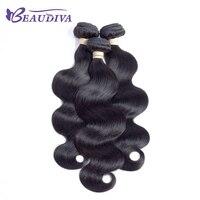 BEAUDIVA Body Wave Human Hair Bundles Natural Color 8-26 inch 3 pcs lot Malaysian Body Wave Hair Weaving Non Remy Human Hair