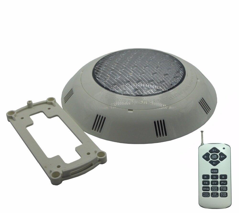 Lumières LED pour piscine 12 V montage en Surface sous la lumière de l'eau IP 68 etang étanche éclairage 18 W 22 W 24 W 39 W matière plastique