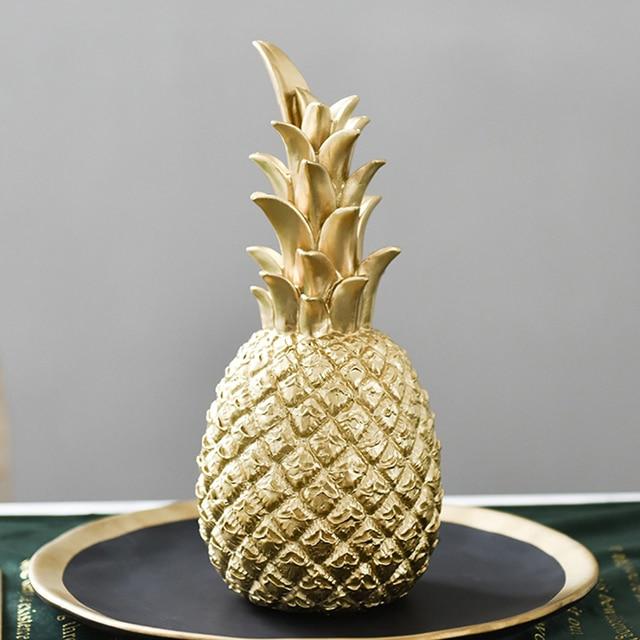 Nordic Modern Pineapple Fruit Living Room Wine Cabinet Window Desktop Home Decor Table Decoration Crafts Fashion 5