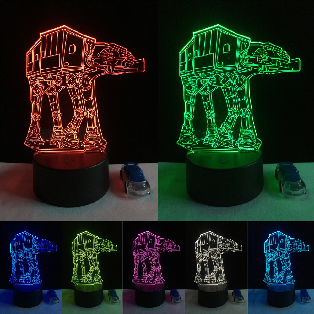 Creative Gifts Star Wars Lamp 3D Night Light Transporting dogs USB Led Table Desk Lampara Child Kids Bedroom Home Decor Lighting coffee cups and roses lamp 3d 7 color visual led night lights kids usb table lampara lampe baby sleeping nightlight gifts decor