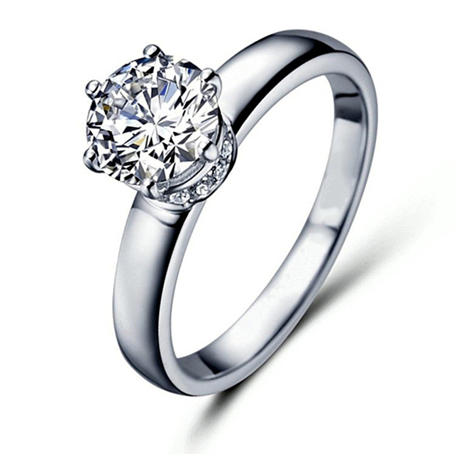 3 MM Ancho 1.5 Carat ct F Color de Compromiso del Laboratorio Anillo Con Acentos de diamante de Moissanite Grown Moissanite Diamante 14 K 585 Oro Blanco