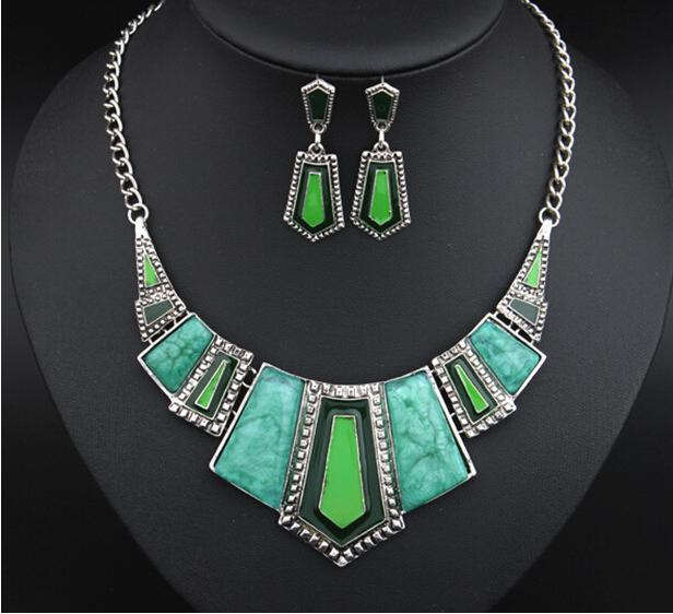 INFERY New Fashion Vintage Jewelry Sets For Women Big ...