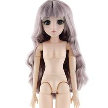 New 42cm 26 Movable Joint BJD Dolls Toys with 3D Eyes Eyelash DIY Naked Nude Head Doll Body Female Bjd Dolls Toy For Girls Gift недорого