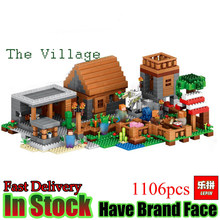 Lepin Minecraft 1106pcs The Village My World Model kits action anime figures Building Blocks Bricks fun Toys For Children gifts(China)