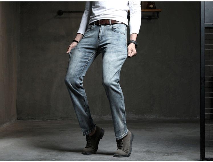 Acquista cowboy vintage bule uomo jeans nuovo arrivo 2019 moda