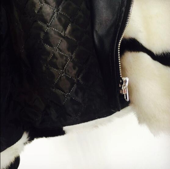Coréenne Cuir Vison Féminité Locomotive De Hiver Automne Fourrure Eau Revers En Manteau À Veste Et Imitation Mode Pu Couture tAnfg