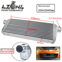 LZONE Universal Turbo Intercooler bar&plate OD=2.5 550*230*65mm Front Mount intercooler JR IN813 25