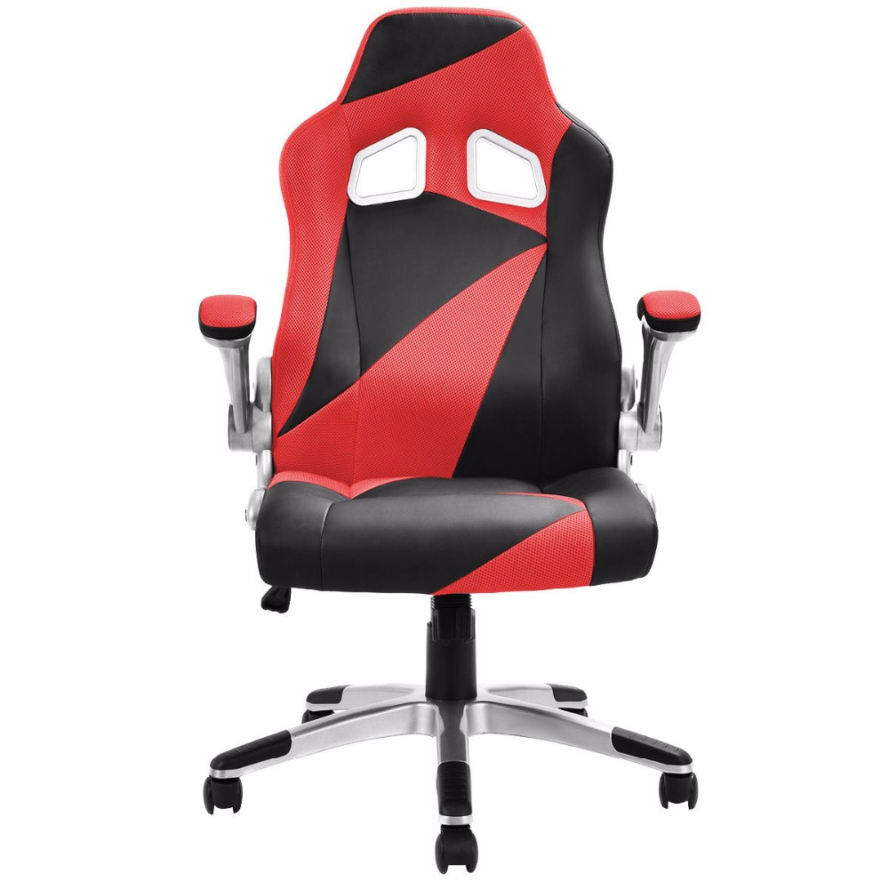 Goplus 5 Colors PU Leather Executive Racing Style Bucket Seat Office Desk Task Mesh Swivel Lifting Computer Gaming Chair HW52014 high back race car style bucket seat office desk chair gaming chair gray new cb10068gr