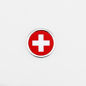 Para Logo de bandera suiza, pegatina de coche, emblema redondo, insignia, accesorios para Vauxhall Yamaha Honda Subaru Mitsubishi LOTUS Ford ISUZU Jeep