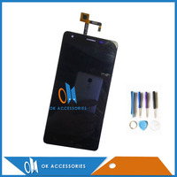 Black Color For Oukitel K6000 LCD Display With Touch Screen Panel Glass Good Quality 1pc Lot