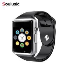 Soulusic A1 WristWatch Bluetooth Smart font b Watch b font Sport Pedometer With SIM Camera Smartwatch