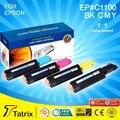 БЕСПЛАТНАЯ доставка Для Epson C1100 CX11 Цветной Тонер Картриджи C1100 Совместимый Цветной Тонер-Картридж Для Epson Тонер C1100 CX11