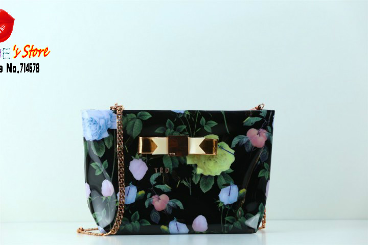 florals printing ted butterfly women messenger bag black bowtie cross boy pink bow shoulder bags - Blue's Store store
