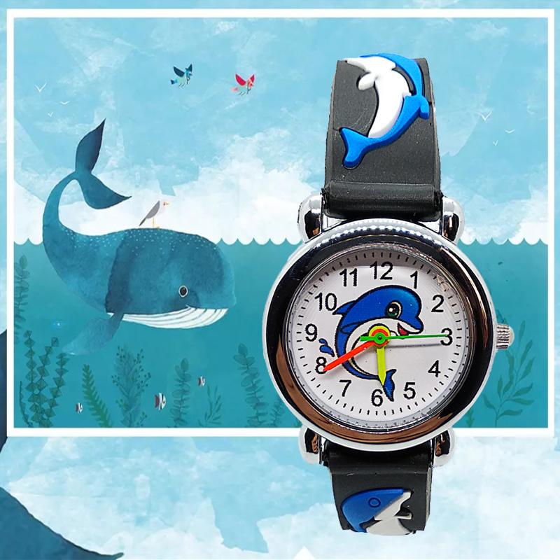 2019 New Arrive Blue Deep Sea Whale Children Watches For Girls Boys Kids Gift Watch Casual Quartz Wristwatch Fashion Child Watch