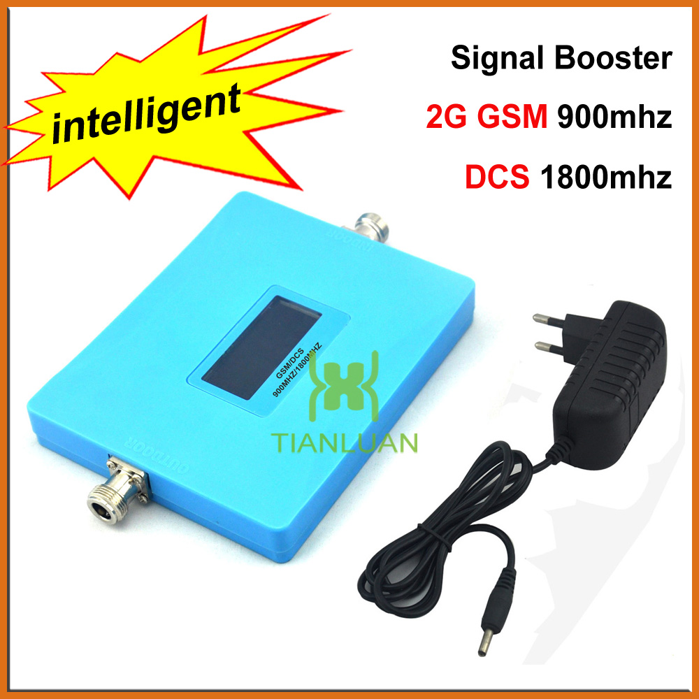 Intelligent Display Dual Band GSM 900Mhz DCS 1800MHz Mobile Phone Signal Booster 2G 4G Cell Phone Signal Repeater with PowerIntelligent Display Dual Band GSM 900Mhz DCS 1800MHz Mobile Phone Signal Booster 2G 4G Cell Phone Signal Repeater with Power