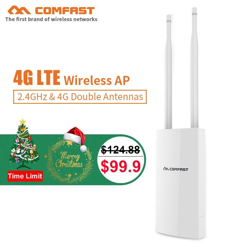 Nouveau cadeau COMAFST CF-E5 Haute Vitesse En Plein Air 4G LTE point d'accès sans fil routeur wifi Plug and Play 4G SIM Carte Portable routeur sans fil wifi