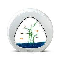 Мини Настольный акриловый аквариум с светодиодный системой фильтрации освещения трава водяной насос Золотая рыбка Медузы Betta аквариумные