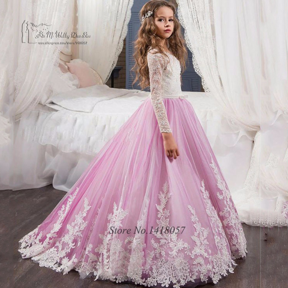 Aliexpress.com : Buy Lavender Prom Dresses Girls Long Sleeve ...