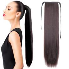 22″Long Hot Sale  Long Straight Ponytail Hairpieces Fashion Natural Hair  Women's Ponytail Top Quality 15Colors Choose