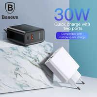Baseus carga rápida 4.0 3.0 carregador usb portátil 5a para huawei 30 w qc 4.0 3.0 carregador rápido pd 3.0 carregador rápido para iphone