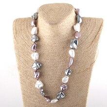 Модное богемное ювелирное изделие, необычное большое жемчужное ожерелье в виде раковины для женщин, этническое ожерелье с кругами