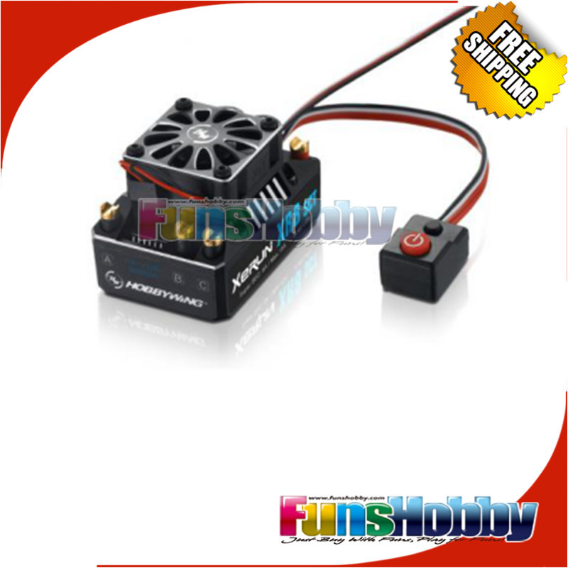 Hobbywing XR8 SCT 140A Brushless ESC Speed Control Controller And 3IN1 LCD Program Card For 1/8 1/10 RC Car Auto Truck Traxxas.