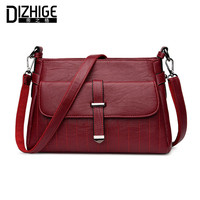 DIZHIGE Brand Fashion Belt Shoulder Bags Solid Crossbody Bags Women High Quality PU Leather Handbags Ladies