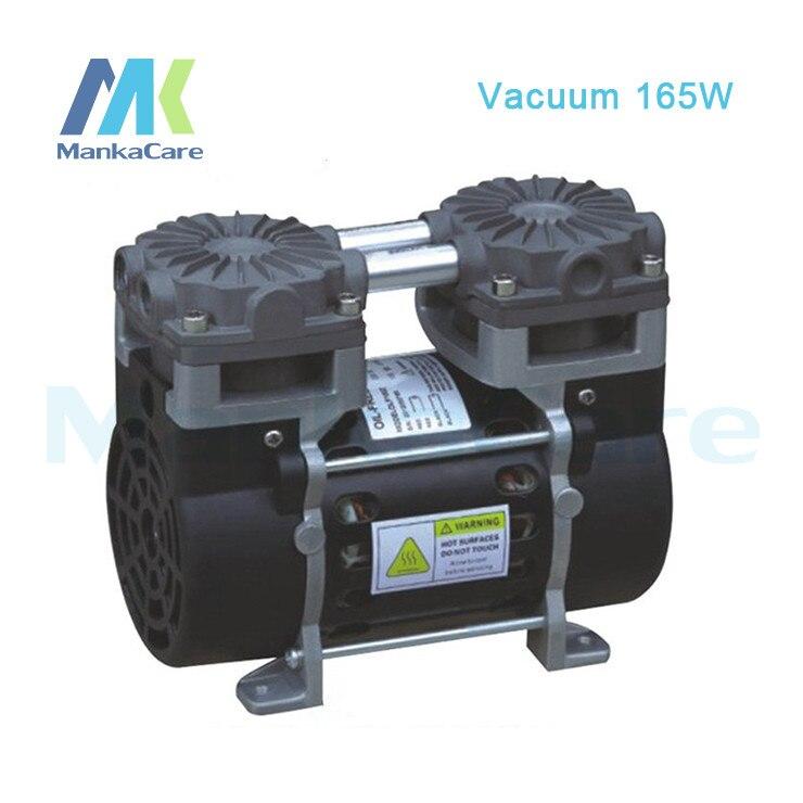 Manka Care - 110V /220V (AC) 50L/MIN 165W small electric piston vacuum pump/Silent Pumps/Oil Less/Oil Free/Compressing Pump