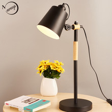 Modern iron adjustable table lamp Nordic simple black desk lamp LED E27 for study parlor bookstore bedside children office room(China)