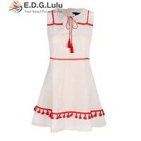 EDGLuLu japanese pink short sweet casual beach club party elegant v neck 2018 runway womens fashion modest dress