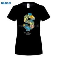 GILDAN 여름 스타일 거리 T 셔츠 여성의 꽃 그림 티셔츠 소녀 도시 패션 S 문자 O 목 짧은 소매