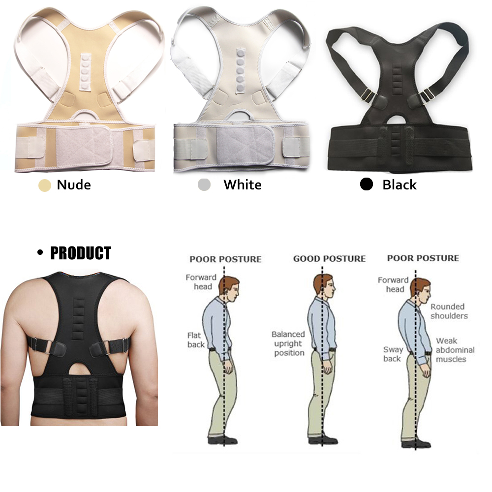 product Magnetic Therapy Posture Corrector Brace Shoulder Back Support Belt for Men Women Braces & Supports Belt Shoulder Posture