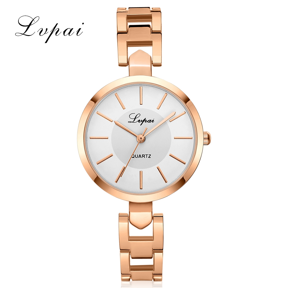 Women Luxury Bracelet Watch LVPAI Fashion Brand Rose Gold Quartz WristWatches Ladies Dress Sport Watch Clock Dropshiping LP106 2017 new arrive lvpai brand rose gold women bracelet watch fashion simple quartz wrist watches ladies dress luxury gift clock